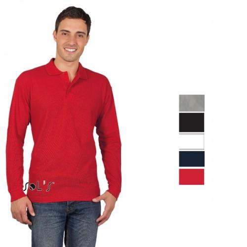57541a9f1d15 Διαφημιστική μπλούζα polo μακρυμάνικη SOLS STAR