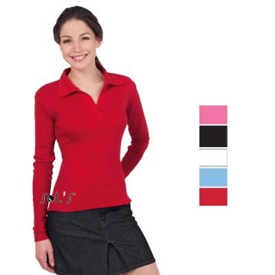 Διαφημιστική μπλούζα polo μακρυμάνικη SOLS pulp