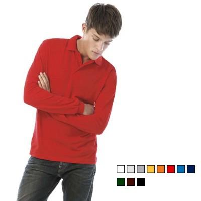 Διαφημιστική μπλούζα polo μακρυμάνικη B&C Safran LSL